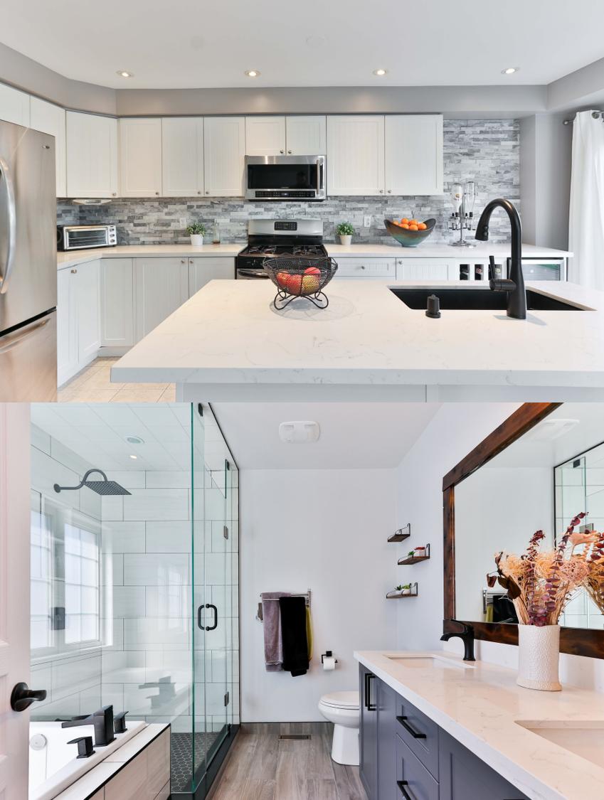 Clean Gray Kitchen-Bath